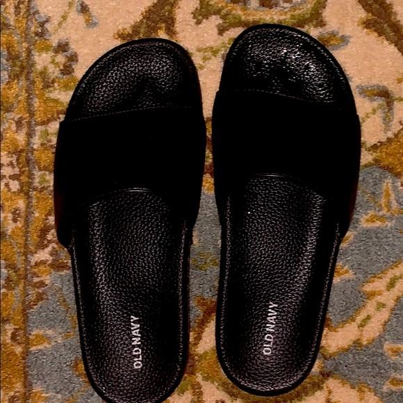 Old Navy Black Slides